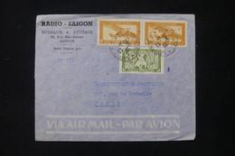 INDOCHINE - Enveloppe De Radio Saigon Pour La Radiodiffusion à Paris En 1949 - L 84870 - Covers & Documents
