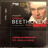 Croatia, 2020, The 250th Anniversary Of The Birth Of Ludwig Van Beethoven, 1770-1827 (MNH) - Musik