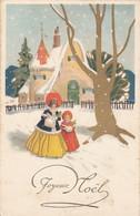 Fêtes - Voeux - Joyeux Noël - Carte Dorée - Neige - Mode - Other