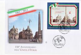 """2011 - VATICANO FDC """" ANNIVERSARIO DELL' UNITA' D' ITALIA """" FILAGRANO VEDI++++ - FDC"""