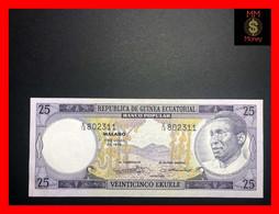 EQUATORIAL GUINEA 25 Ekuele 7.7.75  P. 9   UNC - - Equatorial Guinea