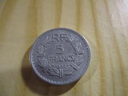 France - 5 Francs Lavrillier 1950 Alu.N°1569. - J. 5 Franchi