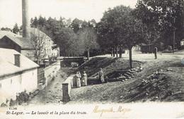 Saint Léger Le Lavoir Et La Place Du Tram, Brasserie Veriter D.V.D - Saint-Léger