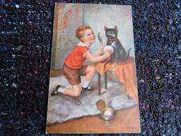 Petit Garçon Maquille Son Chat Noir, 1932 (Z10) - Scene & Paesaggi