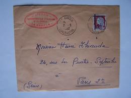 ALGERIE 07-09-1962 CONSTANTINE Vers PARIS, République Française Barrée Et Surcharge E A Violette - Algérie (1962-...)
