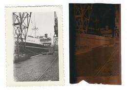 Photo Originale Et Son Négatif : L' Anadyr Au Havre, Octobre 1938 - Boten
