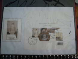 OCB Nr 3229/32 From BL107 Fernand Khnopff  FDC Zijde Soie   ( ClassBord ) - 2001-10