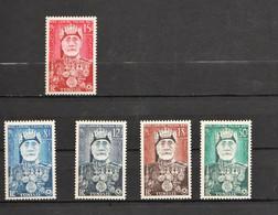 "Tunisie YT 383 à 387 "" Effigie Sidi Lamine Pacha Bey "" 1954 Neuf** - Nuevos"