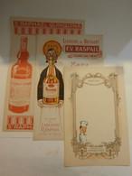 Lot 3 Menus Publicitaires Av Guerre Spiritueux Perrier Jouet St Raphael Raspail - Menükarten