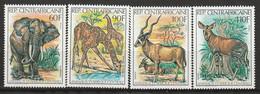 CENTRAFRIQUE - N°503/6 ** (1982) Animaux - Repubblica Centroafricana