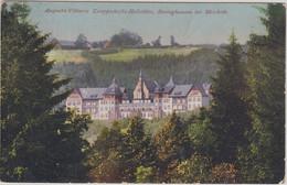 NRW - Bersinghausen B. Meschede Knappschafts-Heilstätte Farb. AK Gelaufen 1925 - Unclassified