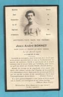 FAIRE PART DECES POILU  MILITAIRE WWI SOLDAT MONT KEMMEL BELGIQUE MUSICIEN CHEF BRANCARDIER 22 RI 26 AVRIL 1918 - Documenti