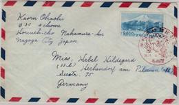 Japan - 24 Y. Fujiyama Luftpostbrief SST Nagoya N. Hechendorf 1951 - Covers