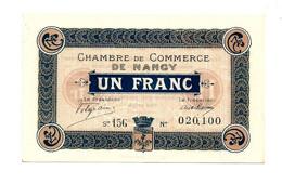 C.D.C. // NANCY // Emission Du 11 Novembre 1918 // Un Franc //  Filigrane Abeilles - Camera Di Commercio