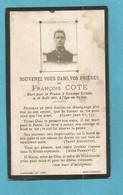 FAIRE PART DECES POILU  MILITAIRE WWI SOLDAT COTE SOMMES SUIPPE 12 AOUT 1915 MARNE - Documenti