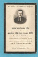 GENEALOGIE FAIRE PART DECES RELIGION RELIGIEUX ABBE DUPRE CURE SAINT CHARLES AVEIZE RHONE SAINT ETIENNE 1827 1909 - Avvisi Di Necrologio