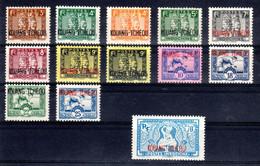 Kouang Tchéou N° 125 à 134 Neuf */** Cote 21 € - Unused Stamps