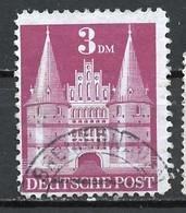 Allemagne Zone Anglo-américaine - Germany - Deutschland 1948 Y&T N°67 - Michel N°99wg (o) - 3m Holstentor De Lübeck - Bizone