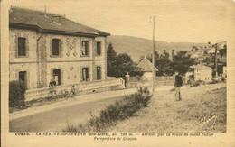 43 - CPA La Séauve Sur Semène - Arrivée Par La Route De Saint-Didier - Perspective De Grozon - Altri Comuni
