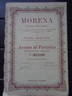 ESPAGNE - BILBAO 1891 - MORENA - ACCION DE 100 PESETAS - Unclassified