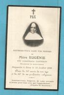 GENEALOGIE FAIRE PART DECES RELIGION RELIGIEUX  MERE EUGENIE CARTERON RELIGIEUSE DE SAINT JOSEPH 1853 1928 - Avvisi Di Necrologio