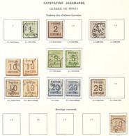 Alsace-Lorraine Un Lot De 13 Valeurs Cote 780€ - Alsazia-Lorena