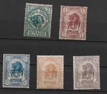 94949) ITALIA-SOMALIA-•Serie Ordinaria - Ottobre 1903- MLH*- 5 VALORI - Somalia