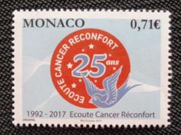 MONACO 2017 - Y&T N° 3104 ** - ECOUTE CANCER RECONFORT - Ungebraucht