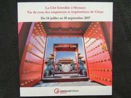 MONACO 2017 - BLOC 1 TIMBRE ** - LA CITE INTERDITE A MONACO, VIE DE COUR DES EMPEREURS &..... - Ungebraucht