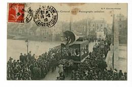 Chalon Sur Saône - Fêtes Du Carnaval 1910 - Phonographe Ambulant ( Il Y A Foule Sur Le Pont De L'hôpital ) Circulé 1910 - Chalon Sur Saone