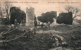 Commequiers (Vendée) Les Ruines Du Château - Carte F.A. Animée N° 5610 De 1905 - Sonstige Gemeinden