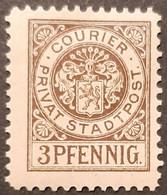 Germany Stadtpost/Privatpost Gera  3 Pfg 1897 Unused With Gum Michel D2 - Sello Particular