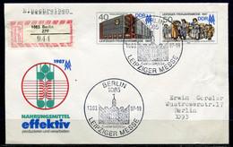 """DDR,GDR 1987 Reco/Einschreib  Ganzsache/Cover Leipziger Messe  Mi.Nr.U6 Mit SST"""" Berlin 1085-Leipziger Messe  """"1 Beleg - Sobres - Usados"""