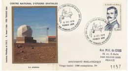 TAAF KERGUELEN FDC TP 76 OBL. 1re Jour 31 12 1978 Numérotée CNES Scans Recto/verso. - FDC