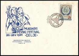 "Yugoslavia 1961, Illustrated Cover ""Youth Singing Festival In Celje 1961"" W./ Postmark ""Celje"" - Covers & Documents"