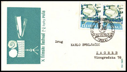 "Yugoslavia 1963, Illustrated Cover ""Pula Film Festival 1963"" W./ Postmark ""Pula"" - Covers & Documents"