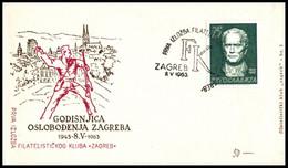 "Yugoslavia 1963, Illustrated Cover ""15 Godina Oslobođenja Zagreb 1963"" W./ Postmark ""Zagreb"" - Covers & Documents"