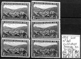 [854162]TB//**/Mnh-c:39e-Luxembourg 1928 - N° 208, CLERVAUX, Nuances En Triplettes, Paysages, Nature - Ongebruikt