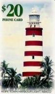 BAHAMAS : BAH18A $20 Hope Town Harbour Light GEM1a USED - Bahamas