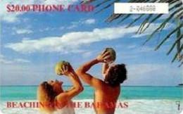 BAHAMAS : BAH07BC $20 BEACHING IN THE BAHAMAS Gem1b White Box USED - Bahamas