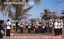 BAHAMAS : BAH06 B $10 ROYAL BAHAMAS POLICE FORCE (gold ON FRONT) USED - Bahamas