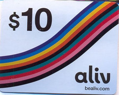 ALIV : R02 $10 ALIV Rainbow USED Exp: 31/12/2017 - Bahamas