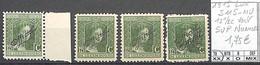[856295]TB//**/Mnh-Luxembourg 1915 - S115-NU, 12 1/2c Vert SUP Nuances - Dienst