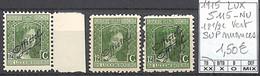 [856296]TB//**/Mnh-Luxembourg 1915 - S115-NU, 12 1/2c Vert SUP Nuances - Dienst