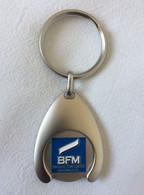Porte Cle BFM Banque Française Mutualiste - Jeton De Caddies - Llaveros