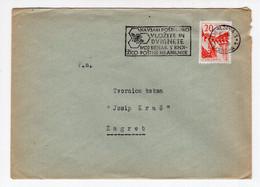 1960? YUGOSLAVIA,SLOVENIA,LJUBLJANA TO ZAGREB COVER,FLAM:BEES,KEEP YOUR MONEY IN POSTAL SAVINGS BANK - Covers & Documents