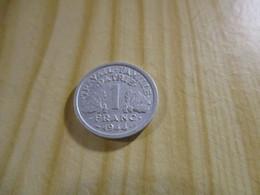 France - 1 Franc Francisque 1944 B.N°1601. - H. 1 Franc
