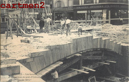 RARE CPA : NANTES LES TRAVAUX DE DEMOLITION DU PONT D'ORLEANS AOUT 1917 - Nantes