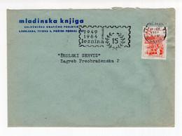 1964. YUGOSLAVIA,SLOVENIA,LJUBLJANA,MLADINSKA KNJIGA HEADED COVER,FLAM:15 YEARS OF LESNINA - Covers & Documents