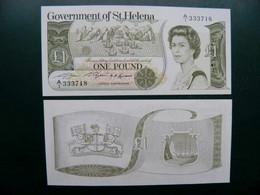Unc Banknote Saint Helena Islands 1 Pound 1981 Sign.2 P-9a - Saint Helena Island